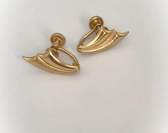 Vintage CC 12K Gold Filled Earrings Screw Backs