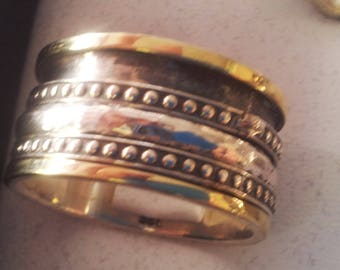 Spinner ring for woman silver gold Israeli jewelry Meditation Rings