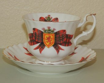 royal albert bone china cup and saucer royal stewart