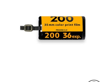 Luggage Tag 35mm  Roll Of Film Luggage Tag  Personalized Retro Film Canister Custom  Tag - Full Metal Tag Single Tag