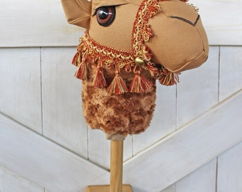 "Camel Ride-On Toy Stick Horse ""Humphrey"" Brown Toddler Size Ready To Ship"