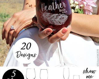 Personalized Bridesmaid Wine Glass, Bridesmaid Ask Proposal, Bridesmaid Glasses, Bridesmaid Flutes, Bridesmaid Glass, Bachelorette Party
