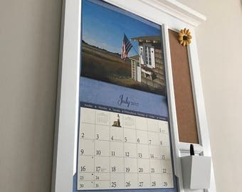 Calendar Frame Family Organizer Storage Shelf And Keyhook