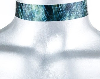Blue Storm Leather Choker - 20mm - Adjustable