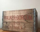 Antique Wooden Walker-Gordon Lab Co Crate. Plainsboro, NJ. RARE.