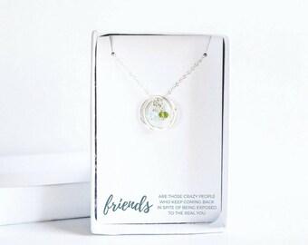 Circles Friendship Necklace - Silver Best Friend Necklace - Sterling Silver Friendship Necklace - Personalized Best Friend Necklace