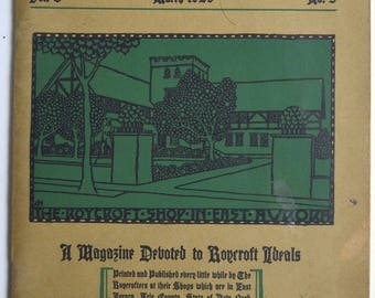 vintage  THE ROYCROFTER March 1929 Dard Hunter cover design