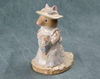 A Royal Doulton Poppy Eyebright figurine from the Brambly Hedge Gift Collection by Jill Barklem, model D BH 1. So very whimsical and cute.