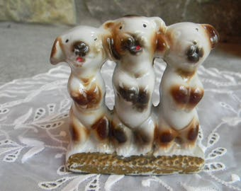 Easter gift ideas etsy vintage dogs ceramic dog trio collectible figurine easter gift ideas pet lover negle Images