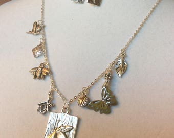 Birds, Bees, Butterflies and Dragonflies in Silver Set
