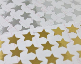 108 pcs - 0.50'' Star Stickers - Planner - Filofax - Bullet Journal - Party - Birthday - Goodie Bags Seal Sticker - 1.2 cms - Made to Order