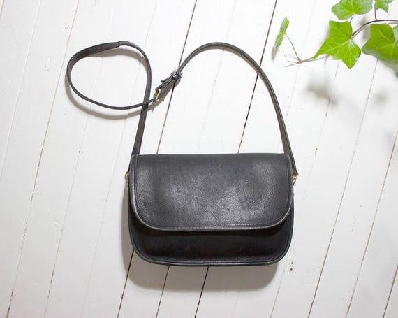 Vintage Coach Bag / Coach Ritchie Bag / Black Leather Coach Purse / Mini Coach Purse / Leather Coach Purse / Crossbody Coach Bag
