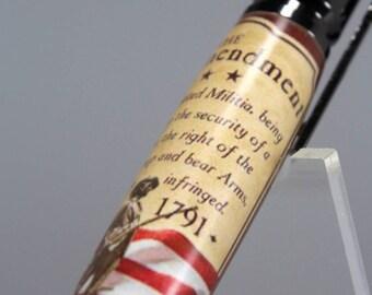 Celebrate the 2nd Amendment - Bolt Action Pen