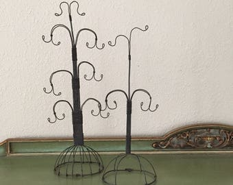 antique wire jewelry stand for display or retail