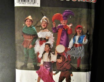 Simplicity Costumes 7294 (Childrens) Robin Hood, Gypsey, Jester,Maid Marion Sizes S,M,L