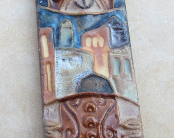 Vintage Ceramic Mezuzzah Made in Israel Jewish Arts, Judaica Gift, Jewish Home Decor
