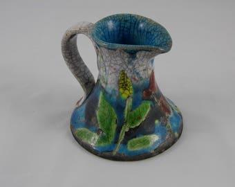Ceramic Jug - Raku Wild Cornwall Jug