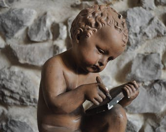 Vintage French Statue of Infant