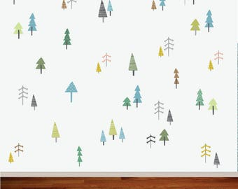 tree stickers , wall art stickers, decorative stickers ,removable wall decals, woodland nursery decor, wall decor stickers,
