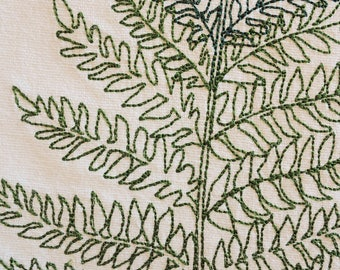 Delicate and Airy Fern Leaf Tattoo-Style Design Kitchen Towel Proceeds To Charity