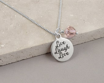 KEEPSAKE NECKLACE - Jewelry, Family Jewelry, mother gift, daughter gift, Sister Gift, Live Laugh Love, under 25 dollars, Hypoallergenic