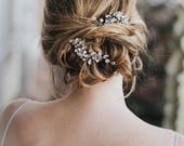 "Wedding Hair Accessories, Bridal Hair Pin, Bridal Hair Accessories, Bridal Headpiece ~ ""Addison"" Wedding Hair Pin in Silver, Gold, Rose Gold"