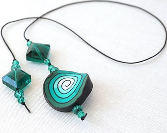 Valentine's gift Emerald Green Crystal Bookmark Book Lover Gift Polymer Clay Beaded Bookmark Bookworm Gift For Librarian Reader Teacher