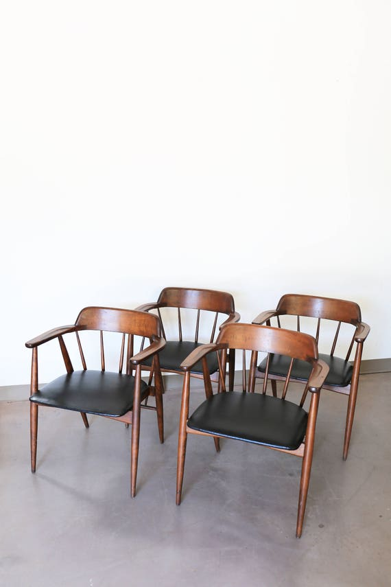 Set of 4 Birchcraft by Baumritter Armchairs
