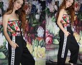 Vintage 90s Kappa Black Minimalist Hip Hop Athletic Track Pants - 1990s Kappa Workout Pants - 1990s Sweat Pants - WV0413