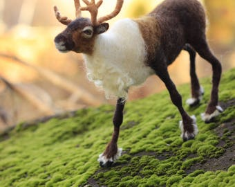 Needle Felted Reindeer- made to order by Noelle Stiles- 2 month turnaround time
