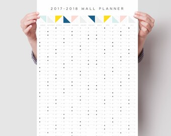 2017 - 2018 Pattern Year Planner - Aug 2017 to Jul 2018  Academic Planner - Wall Planner - Calendar - Academic Calendar - Planner