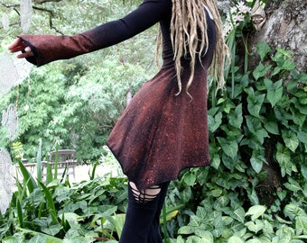 RESERVED Size M/L Bleached Hemp Lycra Mini Willow Dress