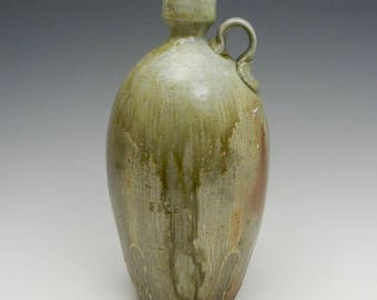 Wood fired bottle, face jug