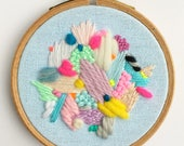 VILLETTE hand embroidered wall hanging