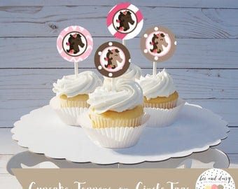 Horse Cupcake Toppers INSTANT DOWNLOAD, Horse Birthday Party, Horse Baby Shower, Horse Circle Tags, Horse Circle Labels, Horse Favor Tags