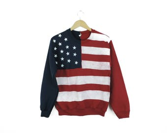 New American Flag USA Crewneck Sweatshirt // Size SMALL // Only One - Ready to Ship