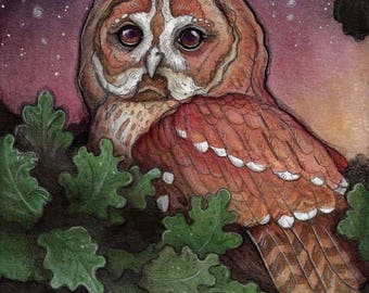 Mystic Owl....Giclee Fine Art Print