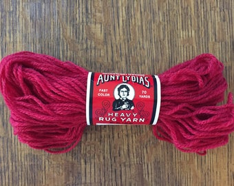 Vintage Aunt Lydia's Heavy Rug Yarn 145 Brick Red