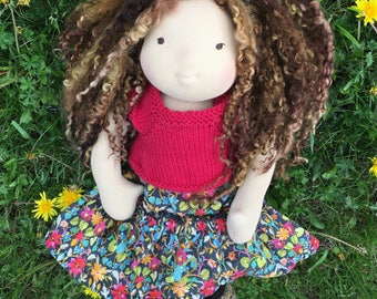 Karina ~ 15 inch Waldorf Inspired Doll