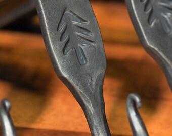 Forged Christmas Tree Mantle or Shelf Bracket Stockings hook