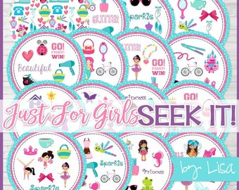Just for Girls SEEK IT Match Game, Party Game, Party Favor, Boredom Buster Game, Road Trip Game - Instant Download by Lisa