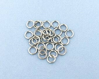 25 Stainless Steel Jump Rings Unsoldered 14mm - J084 NEW4