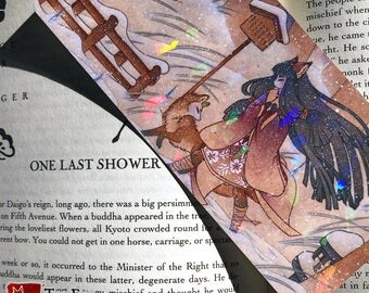 Blustery PRISM Bookmark / Kitsune Fox Yokai / Japanese Asian Style Art
