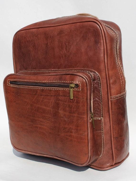 Leather big Backpack! Weekender/Big Backpack Backpack from  genuine cowhide, Unisex leather bag,zaino unisex backpack