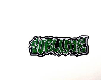 Sublime iron on logo rock band music patch badge Bradley Nowell Ska punk reggae rock