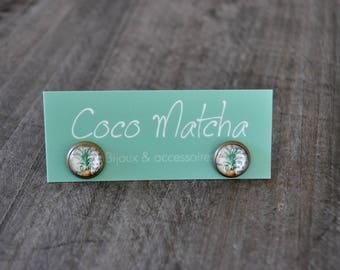 Clous d'oreilles - Puces d'oreilles - Ananas - Pineapple studs - Exotic jewelry - Bijou fruité - Coco Matcha