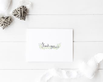Custom Thank You Notes    Custom Stationary   Personalized  Greeting Card   Hand Drawn   Simple Thank You Card   Classic Thank You Notes  