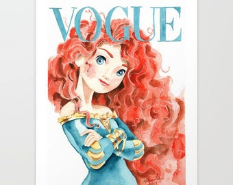 Merida. Vogue Magazine Cover. Print. Frame Ready. Choose Size