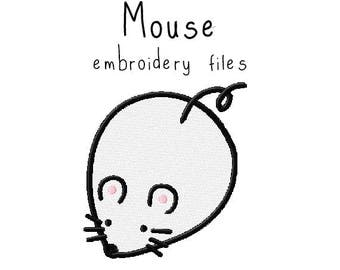 Mouse EMBROIDERY MACHINE FILES Instant Download pattern multiple sizes included design pattern digital