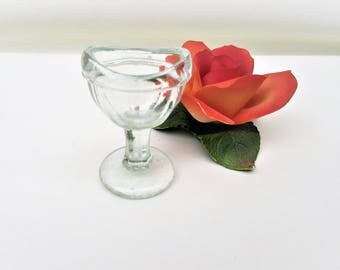 Vintage Eye Wash Cup   Optical Tool   Eyewash Utensil   Glass Medical Tool   First Aid Eye Bath